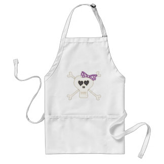Bandera pirata púrpura linda del gótico delantales