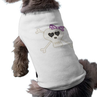 Bandera pirata púrpura linda del gótico ropa de perro