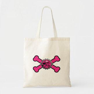 bandera pirata rosada del rosa del bottlecap del c bolsa