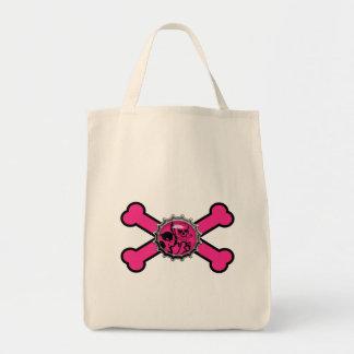 bandera pirata rosada del rosa del bottlecap del c bolsa de mano