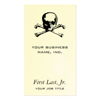 Bandera pirata tarjetas de visita