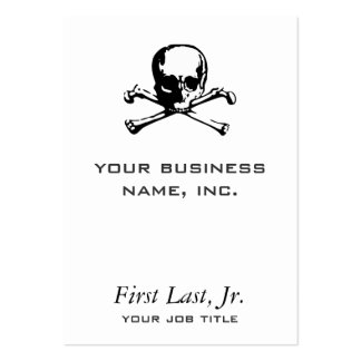 Bandera pirata tarjetas de visita grandes