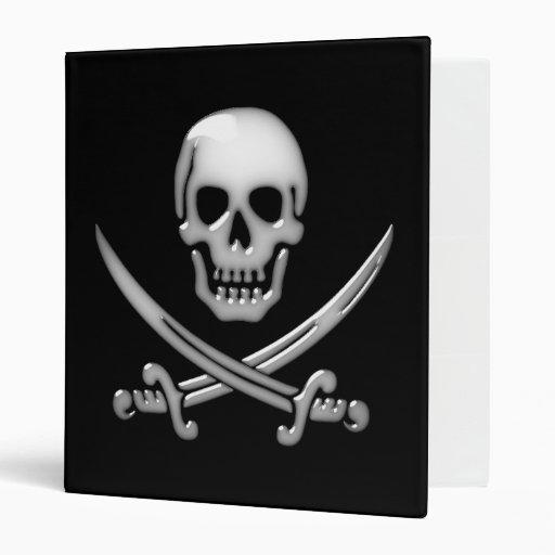 Bandera pirata vidriosa del cráneo y de la espada