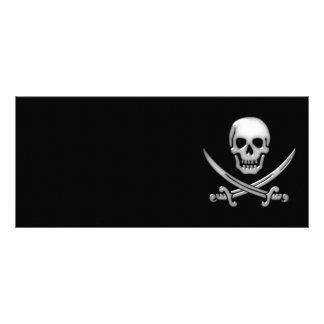 Bandera pirata vidriosa del cráneo y de la espada tarjeta publicitaria personalizada