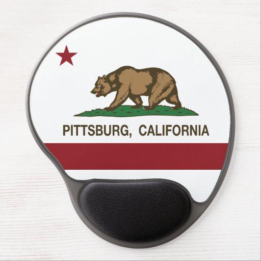 Bandera Pittsburg del Stat de California Alfombrillas De Ratón Con Gel
