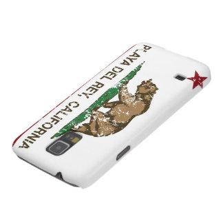 Bandera Playa del Rey de la república de Californi Fundas Para Galaxy S5