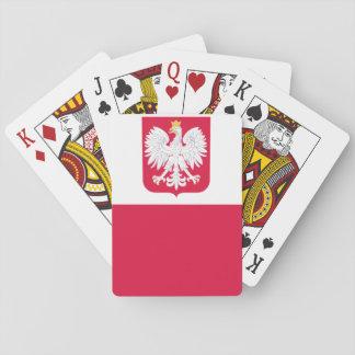 Bandera polaca baraja de póquer