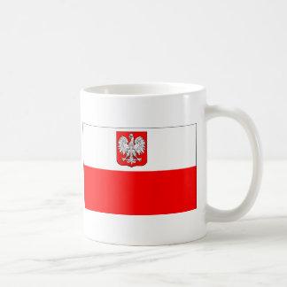 Bandera polaca con Eagle Taza De Café