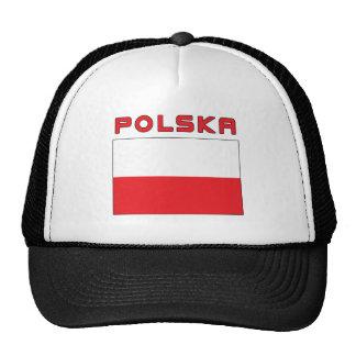 Bandera polaca con Polska Gorras De Camionero