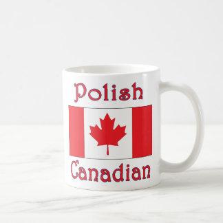 Bandera polaca de Canadá del canadiense Taza