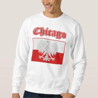 Bandera polaca de Chicago Suéter