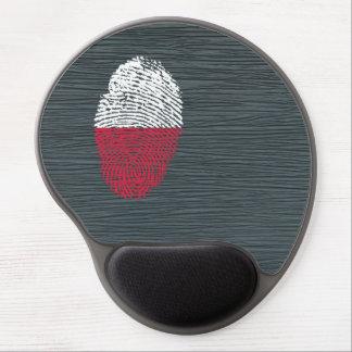 Bandera polaca de la huella dactilar del tacto alfombrilla de ratón con gel