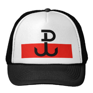 Bandera polaca de la resistencia gorras de camionero