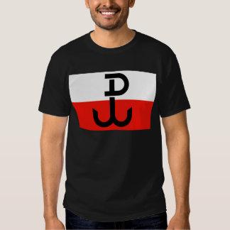 Bandera polaca de la resistencia playeras