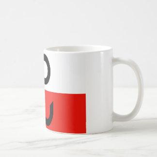 Bandera polaca de la resistencia tazas de café
