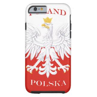 Bandera polaca de Polonia Funda De iPhone 6 Tough