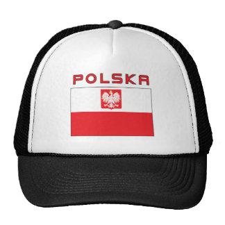 Bandera polaca del halcón con Polska Gorras