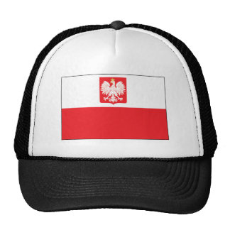 Bandera polaca del halcón gorros