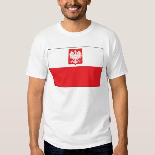 Bandera polaca del halcón remera