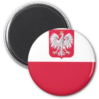 Bandera polaca imán de frigorífico