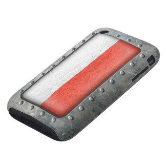 Bandera polaca industrial funda resistente para iPhone 3