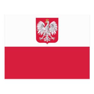Bandera polaca postal