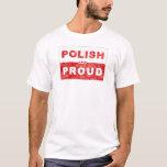 Bandera polaca y orgullosa playera