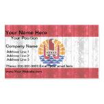 Bandera polinesia de madera plantilla de tarjeta de visita