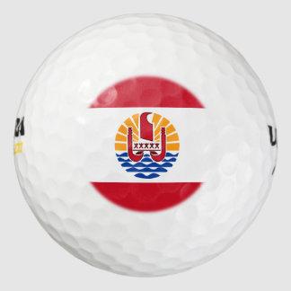 Bandera polinesia francesa pack de pelotas de golf