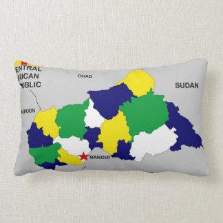 bandera política del mapa de la República Cojines