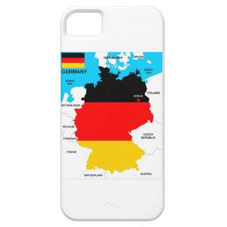 bandera política del mapa del país de Alemania Funda Para iPhone SE/5/5s
