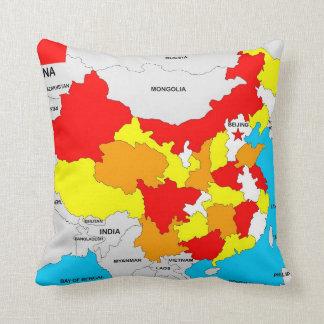 bandera política del mapa del país de China Cojin