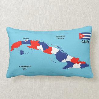 Bandera política del mapa del país de Cuba Cojin