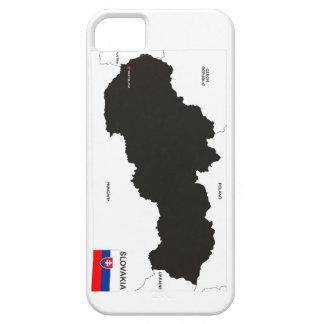 bandera política del mapa del país de Eslovaquia Funda Para iPhone SE/5/5s