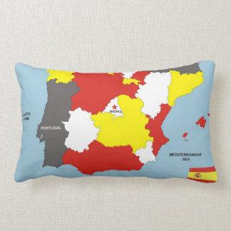 bandera política del mapa del país de España Almohada