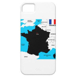 bandera política del mapa del país de Francia Funda Para iPhone SE/5/5s