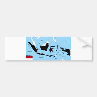 bandera política del mapa del país de Indonesia Pegatina Para Auto