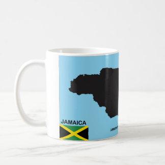 Bandera política del mapa del país de Jamaica Taza De Café