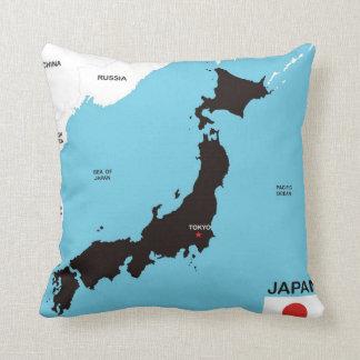 bandera política del mapa del país de Japón Cojines