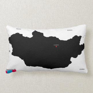 bandera política del mapa del país de Mongolia Cojines