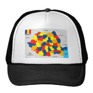 bandera política del mapa del país de Rumania Gorro De Camionero