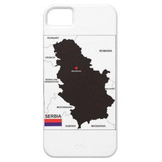bandera política del mapa del país de Serbia Funda Para iPhone SE/5/5s