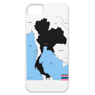 bandera política del mapa del país de Tailandia Funda Para iPhone SE/5/5s