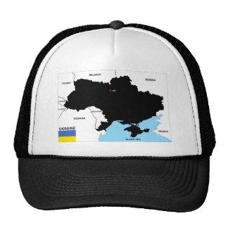 bandera política del mapa del país de Ucrania Gorras De Camionero