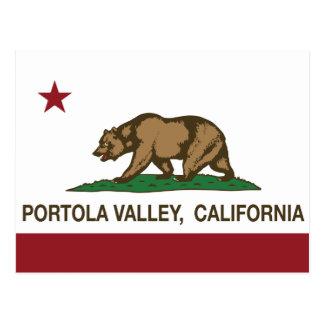 Bandera Portola Valley de la república de Postales