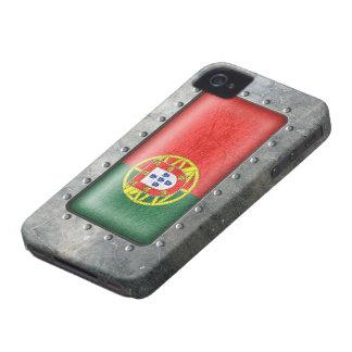 Bandera portuguesa industrial Case-Mate iPhone 4 cobertura