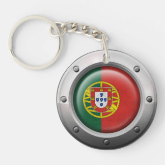 Bandera portuguesa industrial con el gráfico de ac