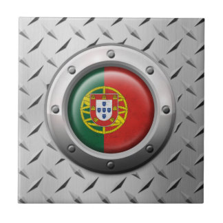 Bandera portuguesa industrial con el gráfico de azulejos ceramicos