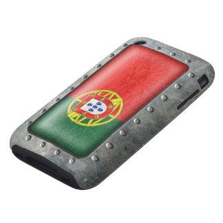 Bandera portuguesa industrial iPhone 3 tough protectores