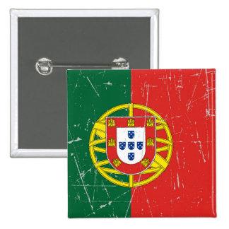 Bandera portuguesa rascada y rasguñada pins